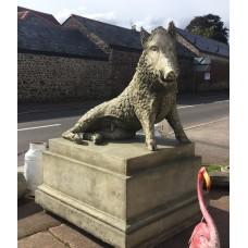 Huge Wild Boar on plinth